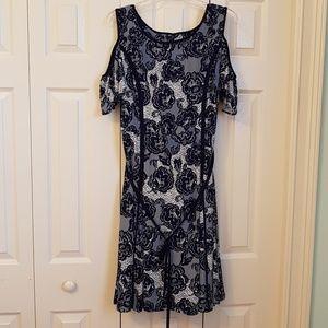 Lace like blue dress